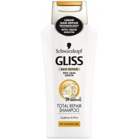 GLISS - LOT DE 6 SHAMPOING 400ML - TOTAL REPAIR