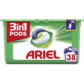 ARIEL PODS - LOT DE 3 LESSIVES ARIEL PODS REGULAR 3EN1 - 3x38 Capsules