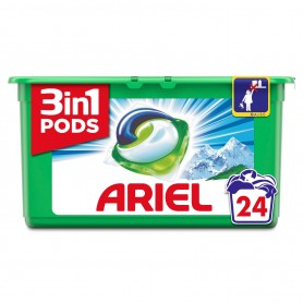 ARIEL PODS - LOT DE 5 LESSIVES PODS ARIEL REGULAR 3EN1 ORIGINAL - 5x24 Capsules