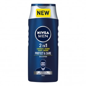 NIVEA - LOT DE 12 SHAMPOING PROTECT & CARE 2 EN 1- 12x250ML