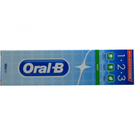ORAL-B - LOT DE 6 DENTIFRICES 123 MENTH - 6x100ML