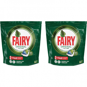 FAIRY - LOT DE 2 PACKETS POUR LAVE-VAISSELLE ALL IN ONE - 2x84 Capsules